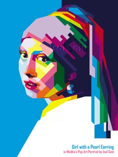 Girl with a pearl earring in WPAP by IcalSaid