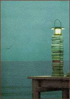 'Lighthouse Possiblity' by Quint Buchholz (German author and illustrator, born 1957) by Plum leaves, via Flickr