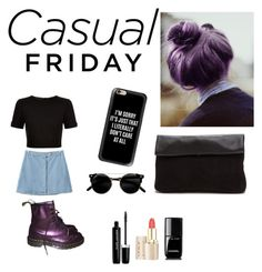 """""""Violet casual"""" by aailenstamatti on Polyvore featuring moda, Ted Baker, Casetify, Chicnova Fashion, Dr. Martens, Marc Jacobs y Chanel"""