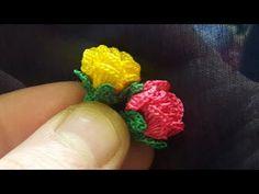 GÜL OYASI YAPILIŞI/TIĞ OYASI - YouTube Crochet Earrings Pattern, Bead Crochet Patterns, Crochet Lace Edging, Crochet Leaves, Crochet Borders, Crochet Art, Filet Crochet, Crochet Doilies, Crochet Flowers