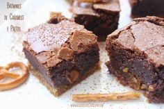 Ricas Receitas: Brownies com caramelo e pretzel | Brownies with ca...
