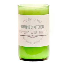 Recycled Wine Bottle Eco Candle by Onestoppampershop on Etsy, £10.00
