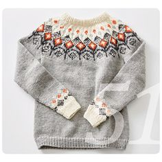 Crochet Patterns Sweaters Knitting pattern Norwegian pullover with round yoke Knitting Kits, Fair Isle Knitting, Sweater Knitting Patterns, Loom Knitting, Baby Knitting, Crochet Patterns, Nordic Sweater, Icelandic Sweaters, Knitting Accessories