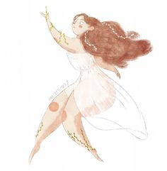 13 отметок «Нравится», 2 комментариев — Iana September (@iana.s.draws) в Instagram: «Little Nymph . . . #nymphs #nature #muse #fairy #character #characterdesign #cartoon #card…»