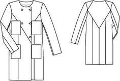 Double Breasted Coat 02/2015 #120 140 x 2.50 m, 140 x 1.80 m, 5 buttons & 1 flat button