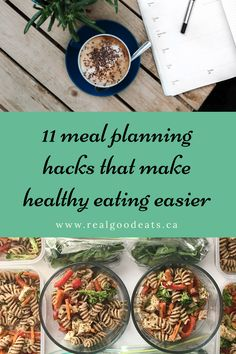 11 Meal Planning Hacks that Make Healthy Eating Easier Healthy Eating Tips, Easy Healthy Dinners, Healthy Dinner Recipes, Nutrition Tips, Meal Ideas, Meal Planning, Hacks, How To Make, Food