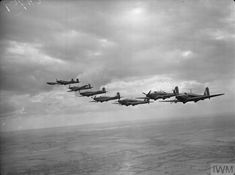 Nine Fairey Battle Battle Mark Is of No. 12 Operational Training Unit based at Benson, Oxfordshire, flying in loose echelon formation. Air Force Bomber, The Blitz, Battle Of Britain, Royal Air Force, Military Aircraft, World War Ii, Wwii, Fighter Jets, Aviation