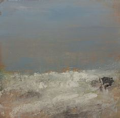 """Saatchi Art Artist: Chris Hankey; Oil 2014 Painting """"Winter Sea Bryher oil on canvas 36x36 inches"""""""