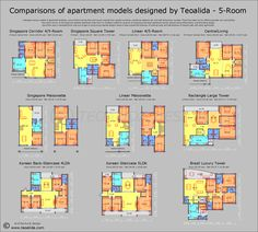 Apartment plans 30-200 sqm & architecture design services | Teoalida Website