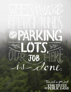Trust For Public Land Print Ad by @alliebmcrae & @katieefs