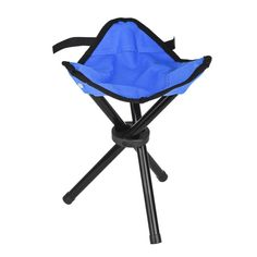 Eyourlife Foldable Stool Slacker Chair Tri-Legged Portable Outdoor Folding Tripod Camp Fish Stool (1 Pack) ** Learn more by visiting the image link.