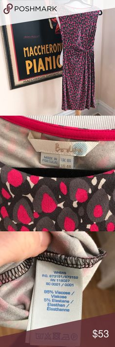 BODEN: Twisted Waist Darcy Dress EUC. This  BODEN: Twisted Waist Darcy Dress is ready for the upcoming seasons. Great for anything from heading into the office and paired with a fabulous jacket or off to a wedding with beautiful arm candy and pumps. The dress has some stretch to it and is great quality. Use Zoom to see intricate detail and ask questions prior to purchase. Your satisfaction is very important to me. Bundle up! Boden Dresses