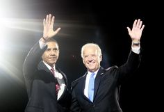 U.S. Democratic President-elect Senator Barack Obama (D-IL) (L) and his running mate, Vice-President-elect Sen. Joe Biden (D-DE) wave during their election night rally in Chicago November 4, 2008. (REUTERS/Jason Reed)  via @AOL_Lifestyle Read more: https://www.aol.com/article/news/2017/04/24/obama-admits-president-post-white-house-event/22053572/?a_dgi=aolshare_pinterest#fullscreen
