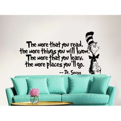 Found it at Wayfair - Dr Seuss the More That You Read Decal Quote Sayings Wall Decal