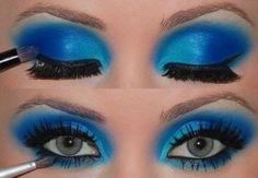 Maquiagem Azul!