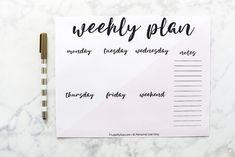 Weekly Planner Printable   Free Printable Weekly Planner Pages   Planner Template   Planner Ideas   Planner Organization   Planner Inserts