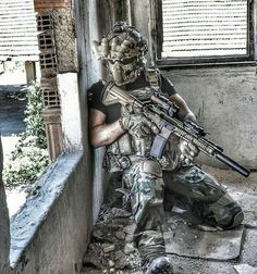 Airsoft player.