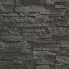 Modern and sleek, this faux slate wallpaper is perfect for creating a feature wall. Its heavily textured and stacked stone pattern gives it a contemporary and edgy style. Collegiate is an unpasted, non woven wallpaper. Look Wallpaper, Brick Wallpaper Roll, Stone Wallpaper, Wallpaper Gallery, Geometric Wallpaper, Wallpaper Samples, Vinyl Wallpaper, Textured Wallpaper, Gray