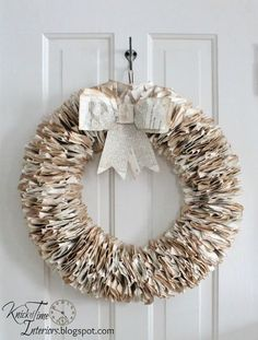 Knick of Time - Don't throw away tattered books - turn them into unique wreaths for about $4!  Tutorial at http://KnickofTime.net