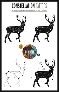 constellation tattoo designs by yours truly #tattoos #reindeer #antlers