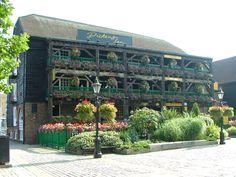 The Dickens Inn pub at St, Katherine's Wharf.