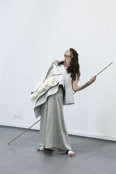 Innovative Fashion - minimalist fashion design with sculptural layers & textures // Doan Nguyen