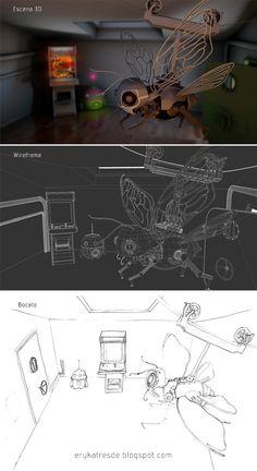 Escena 3D con Softimage.