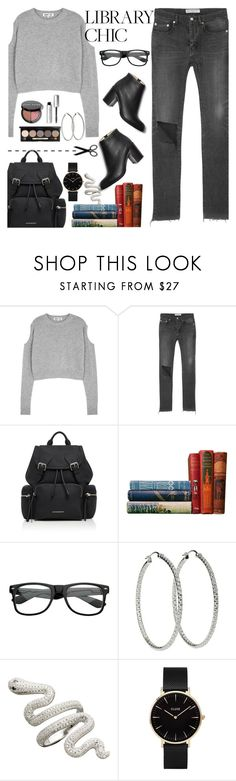 """""""Giigy"""" by kgomotsocaroline ❤ liked on Polyvore featuring McQ by Alexander McQueen, Balenciaga, Burberry, ZeroUV, CLUSE and Bobbi Brown Cosmetics"""