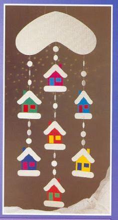 Fotografie, Fotografie, per bambini Winter Art Projects, Winter Crafts For Kids, Art For Kids, School Decorations, Christmas Decorations, Christmas Ornaments, Winter Christmas, Kids Christmas, Xmas Crafts