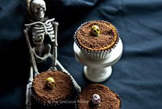 Clean Eating Graveyard Dirt Cupcakes Recipe - The Gracious Pantry
