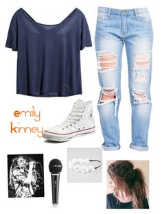 """Emily Kinney"" by allyelizabethk ❤ liked on Polyvore featuring Converse and Full Tilt"