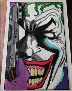 Items similar to Joker Perler Beads/Pixel Art Beads! on Etsy Melty Bead Designs, Melty Bead Patterns, Pearler Bead Patterns, Perler Patterns, Le Joker Batman, The Joker, Pixel Art Templates, Perler Bead Templates, Perler Bead Art
