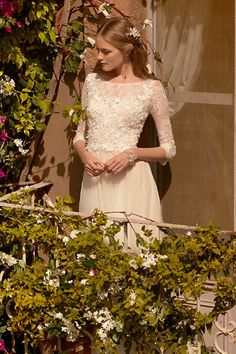 I am getting bespoke top made, to complement the skirt. Lace, 3/4, V-shaped back