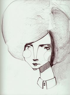 """Marie"" sketch by Ekaterina Koroleva, via Flickr"