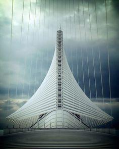 Milwaukee Art Museum | Santiago Calatrava |  Milwaukee, Wisconsin, United States