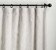 Is a room really finished until you hang curtains? The Seaton Textured Curtain adds soft dimension to windows for a space that feels casual yet complete. Neutral Curtains, Drapes And Blinds, Striped Curtains, Hanging Curtains, Curtains Living, Curtains With Hooks, Rod Pocket Curtains, Grommet Curtains, Curtains