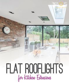 The right rooflight will transform a property, flooding dull or dark   rooms with beautiful, natural light, additional ventilation and a   feeling of extra space. This effect can be created in any area of the   home, from kitchens to bathrooms, bedrooms and loft spaces. #kitchen #modernkitchen #kitchenrooflights #eosrooflights