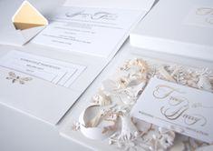 Hand-made decor wedding invitation