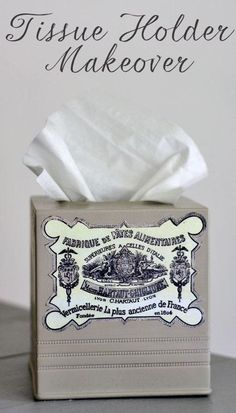 DIY Tissue Holder DIY French Label Tissue Holder DIY Tissue Holder