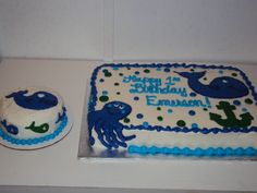 First Birthday Whale Cake / Casi's Cakery