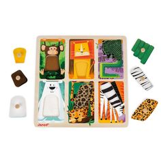 Janod Tactile Puzzle Zoo Animal