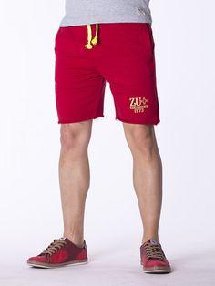 Pantaloni scurti pentru barbati ZU+ rosii Gym Men, Bermuda Shorts, Sport, Design, Fashion, Moda, Deporte, Fashion Styles, Excercise