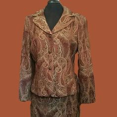 Beautiful and warm Paisley Suit. Size 12
