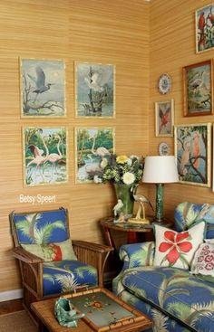 66 Super Ideas For Tropical Bird Wallpaper Vintage Hawaiian Hawaiian Homes, Hawaiian Decor, Vintage Hawaiian, Tropical Style, Tropical Decor, Tropical Colors, Tropical Interior, Tiki Decor, Interior And Exterior