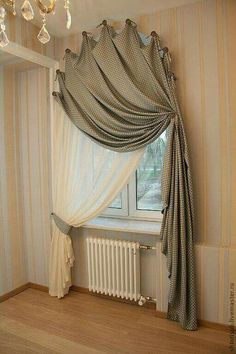 Best Modern Farmhouse Living Room Curtains Decor Ideas - Home Professional Decoration Curtains For Arched Windows, Home Curtains, Window Curtains, Curtains Living Rooms, Bamboo Curtains, Swag Curtains, Decorative Curtains, Shabby Chic Curtains, Room Window
