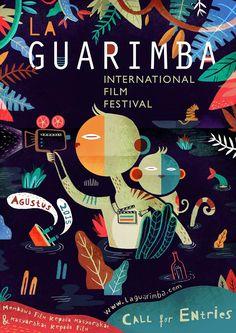 Poster for La Guarimba International Film Festival South Italy by Aditya Pratama Illustration Design Graphique, Art Graphique, Graphic Illustration, Cover Design, Design Art, Web Design, Graphic Design Posters, Graphic Design Typography, Graphic Design Inspiration