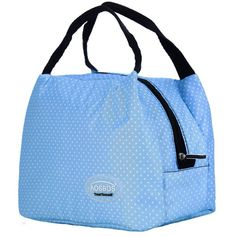 Fashion Portable Insulated Canvas Lunch Bag 803fc9608eb9d