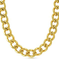 14mm 18K Gold IP Chunky Cuban Chain