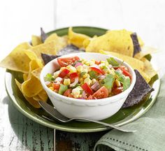 Fresh Corn, Tomato and Chipotle Chile Salsa: Homemade salsa bursts with freshness thanks to straight-from-the-garden corn, tomatoes and sweet peppers.