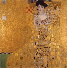 Shop Vintage Art Nouveau Adele Bloch-Bauer I by Klimt Poster created by thnouveau. Personalize it with photos & text or purchase as is! Gustav Klimt, Oil Painting On Canvas, Painting Frames, Diy Painting, Painting Abstract, Paintings Famous, Famous Art, Portrait Paintings, Adele
